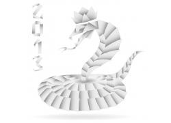 蛇折纸设计