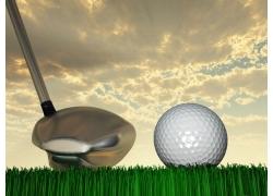 高尔夫球背景素材