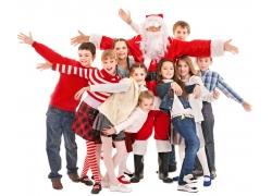 圣诞节家庭人物