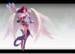 带翅膀的游戏人物图片