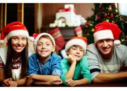 国外过圣诞节家庭人物摄影图片