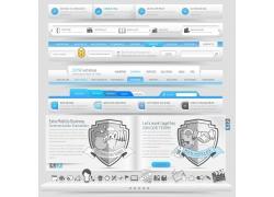 导航条与网页图标设计图片