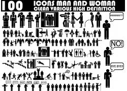 卡通人物剪影素材图片