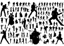 音乐人物剪影素材图片