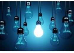 节能环保灯泡背景