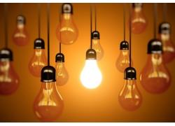 电灯节能环保主题
