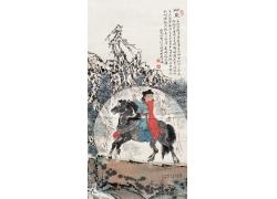 骑马的女孩图片