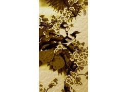 鲜花动物装饰画背景