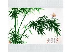 绿色竹子插画