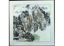 山水装饰画背景素材