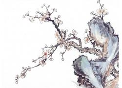 梅花山石国画