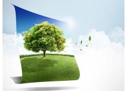 绿色环保广告背景素材