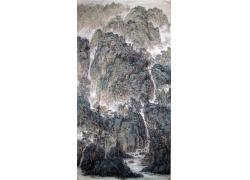 山水风景写意画