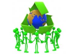 环保主题3D小人
