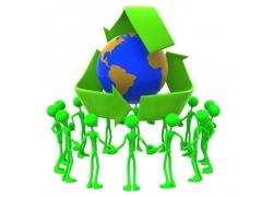 地球保护与3D小人
