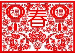 春节剪纸背景