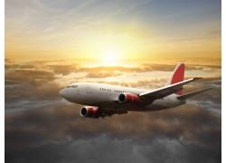 天空上的飞机摄影