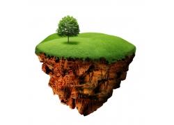 生态环保概念悬浮岛