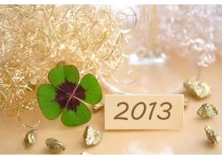 四叶草与2013新年字体