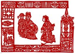 古典人物剪纸