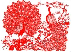 孔雀剪纸艺术