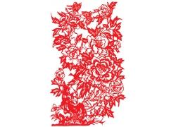 花开富贵剪纸