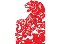 老虎剪纸艺术
