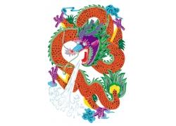 中国龙图腾剪纸