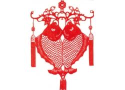 春节连年有余剪纸