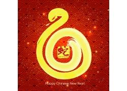 蛇年春节新年背景