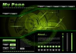 绿色科技网站底纹背景