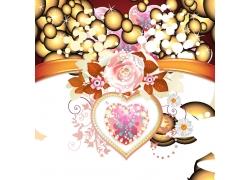 矢量情人节海报背景图片