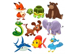 卡通动物设计素材图片