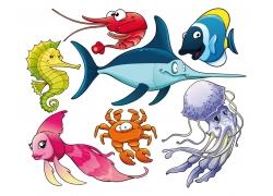 矢量海鲜设计图片