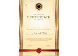 金色证书背景花纹