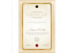 证书金色花纹边框