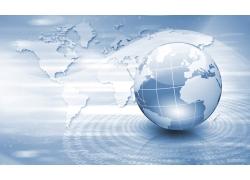 地球与世界地图背景