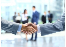 成功合作握手