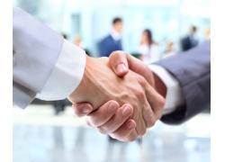 商务成功合作握手