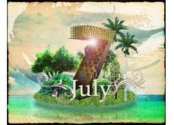 7月夏日海报宣传