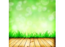 绿色梦幻光斑背景