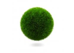 绿色环保草地球形