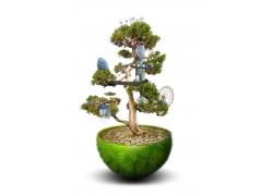环保抽象树