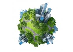 地球城市环保绿化