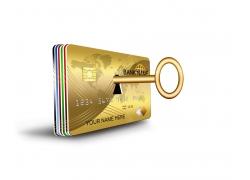 信用卡和金钥匙