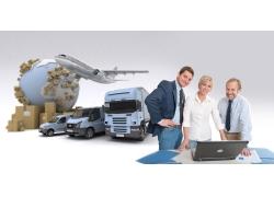 物流运输与商务人物图片