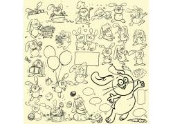 复活节兔子漫画图片