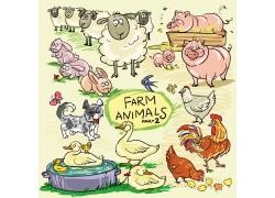 卡通家禽家畜图片