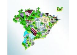 拉丁美洲地图图片