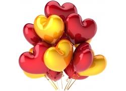 心形彩色气球摄影